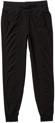 90 Degree By Reflex Woven Ruched Drawstring Leggings