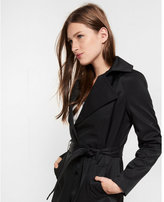 Express large lapel belted trench coat