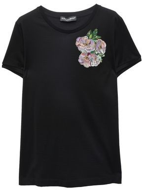 Dolce & Gabbana Embellished Cotton-jersey T-shirt