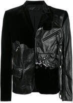 Haider Ackermann transgressive leather and velvet jacket