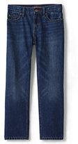 Classic Little Boys Slim Iron Knee Fit Denim-Rinse Wash Denim