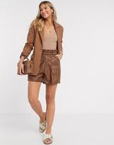 Vila classic blazer in tan