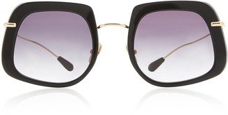 Kaleos Eyehunters Barton Square-Frame Titanium Sunglasses