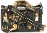 Moschino micro-studded biker bag - women - Leather/metal - One Size