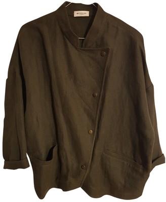 Masscob Khaki Linen Jacket for Women