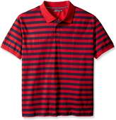 Nautica Men's Big-Tall Striped Polo Shirt