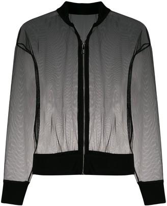 Alchemy sheer bomber jacket
