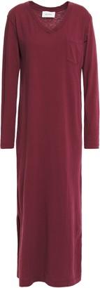American Vintage Brushed Cotton-jersey Midi Dress