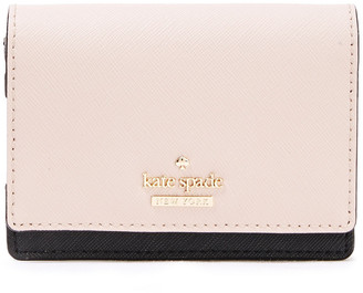 Kate Spade Cameron Street Beca Two-tone Textured-leather Wallet