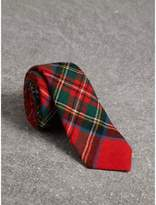 Burberry Slim Cut Tartan Wool Flannel Tie