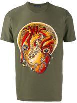 Etro heart print t-shirt - men - Cotton/Viscose - L