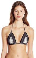 Pilyq Women's Stardust Crochet Tri Bikini Top