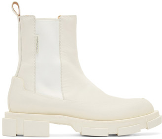 both SSENSE Exclusive Off-White Gao Chelsea Boots