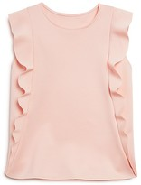 Aqua Girls' Ruffled Scuba Top, Big Kid - 100% Exclusive