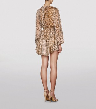 Shona Joy Ghetty Leopard Print Mini Dress