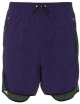 Adidas By Kolor Mesh-panel Nylon Shorts
