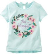 Osh Kosh Bow-Back Embellished Happy Tee
