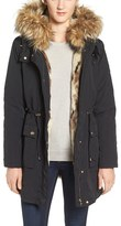 Steve Madden Women's 'Taslon' Parka With Faux-Fur Trim Hood