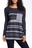 Love Stitch Striped Pocket Sweater