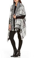 Echo Plaid & Houndstooth Reversible Blanket Wrap