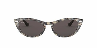 Ray-Ban Women's 0rb4314n Cat Eye Icon Iridium Cateye Sunglasses havana grey 53.7 mm