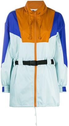 Sjyp Colour-Block Belted Jacket