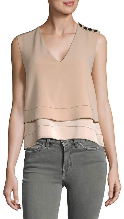 Derek Lam Tiered V-Neck Top