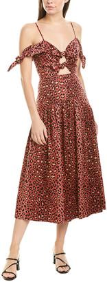 Rebecca Taylor Leopard Midi Dress
