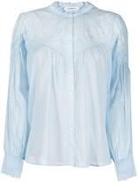 Thumbnail for your product : BA&SH Irene lace panel gathered blouse