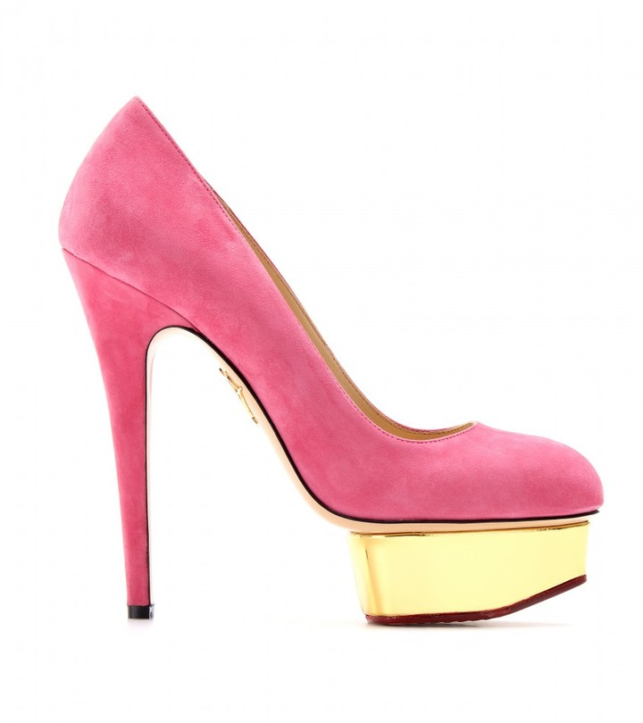 Charlotte Olympia DOLLY PUTTIN' ON THE GLITZ PLATFORM PUMPS