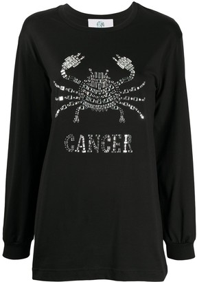 Alberta Ferretti Cancer embellished long sleeve top