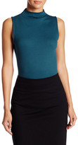 Bobeau Rib Knit Mock Neck Tank