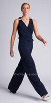 Julian Chang Gisella Draped Surplice Jumpsuit
