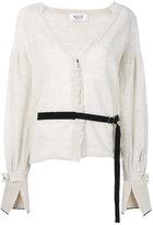 Aviu belted jewel-embellished cardigan - women - Cotton/Polyamide/Wool/Alpaca - 40