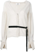 Aviu belted jewel-embellished cardigan