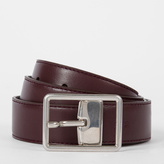 Paul Smith Men's Brown Saffiano Leather Cut-To-Fit Reversible Belt