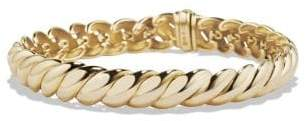 David Yurman Hampton Cable Bracelet In 18K Gold. 8.5Mm
