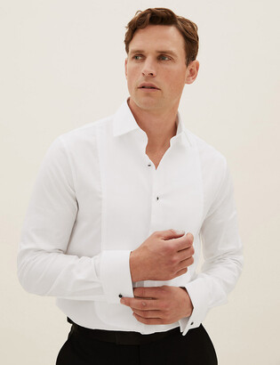Marks and Spencer Tailored Fit Pure Cotton Dinner Shirt