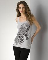 Lauren Moshi Women's Zebra Tank