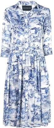 Samantha Sung Audrey toile print dress
