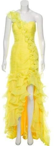 Jovani One-Shoulder Chiffon Gown w/ Tags