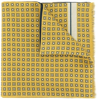 Kent & Curwen Reversible Geometric Print Scarf