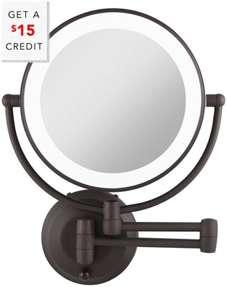 Zadro Cordless Dual Bronze Led Lighted Round Wall Mount