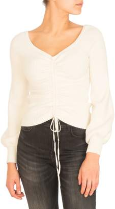 GUESS Julisa Ruched Off-The-Shoulder Sweater