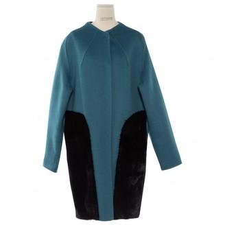 Fendi Blue Cashmere Coat for Women