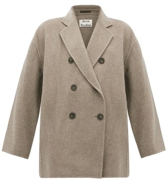 Acne Studios Odine Double-breasted Wool Peacoat - Womens - Grey
