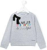 Simonetta girls print sweatshirt - kids - Cotton/Spandex/Elastane - 4 yrs