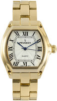 Peugeot Womens Gold-Tone Tonneau Bracelet Watch