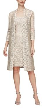 Alex Evenings Petite Lace Jacket Dress