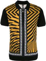 Versus diagonal stripes polo shirt - men - Cotton - 50